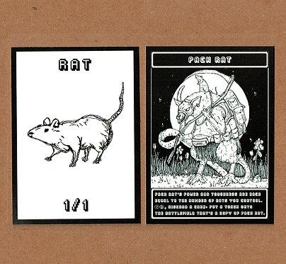 MTG Rat & Pack Rat Token
