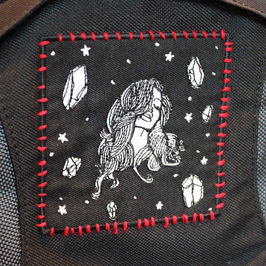Space Babe — 9 x 9 cm. embroidered patch
