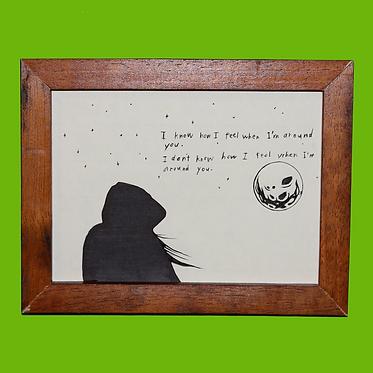 Roulette — 18 x 13 cm. (framed, original)