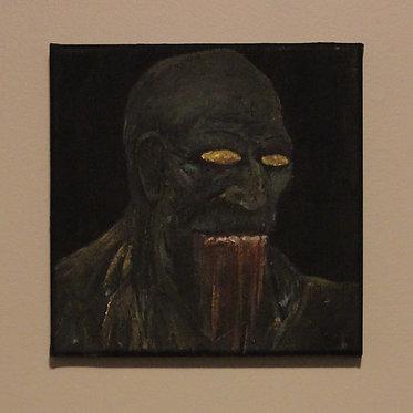 GRIM GRIN — 20 x 20 cm. (original)