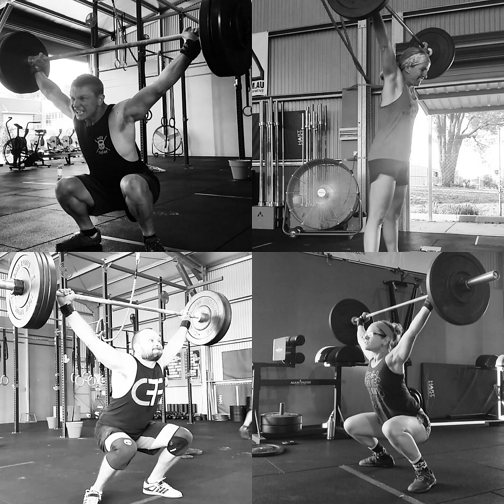 Crossfitters benefiting from weightlifting
