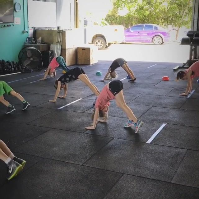 A few snippets from our CrossFit Kids classes warming up this week. Other than starting to introduce proper movement patterns, a large focus in these classes is keeping it fun. These guys have their whole lives ahead of them to reach beast mode if th
