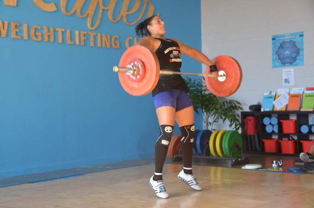 Kristen, Jimboomba Barbell Club , competing in her first competition