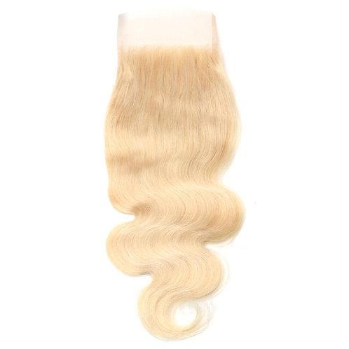 "613 Platinum Blonde Body Wave Lace Closure 10"""