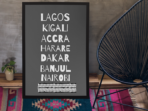 AfriCities PRINTED A3 POSTER