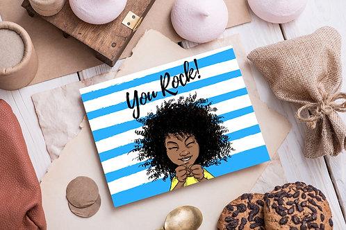 "Kishem ""You Rock"" Greeting Card"