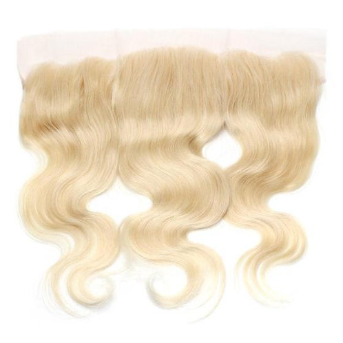 613 Platinum Blonde Body Wave Lace Frontal 10""