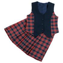 Комплект текстильный для девочки (юбка и жилет)