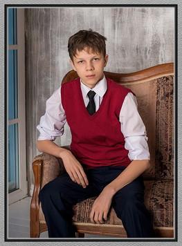 Комплект школьной формы для мальчика (жилет трикотажный и брюки)