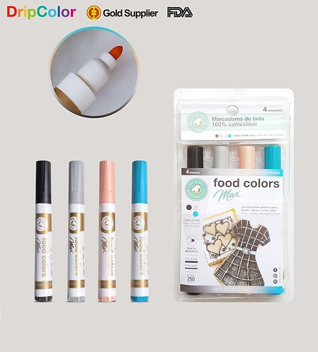 Plumones comestibles (4 Colores)