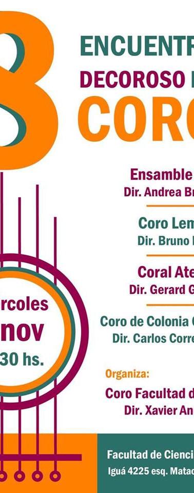 8vo Encuentro Decoroso de Coros -Fac. de Ciencias