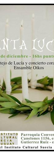 Santa Lucía festejo y concierto Instituto Cultural Suecia Uruguay