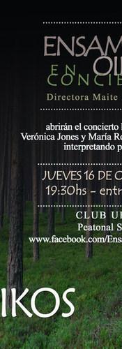 Ensamble Oikos en Concierto - Club Uruguay 2014