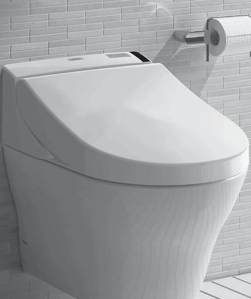 Inodoro de colgar MH + Washlet C200 + Cisterna + Tecla Plateada