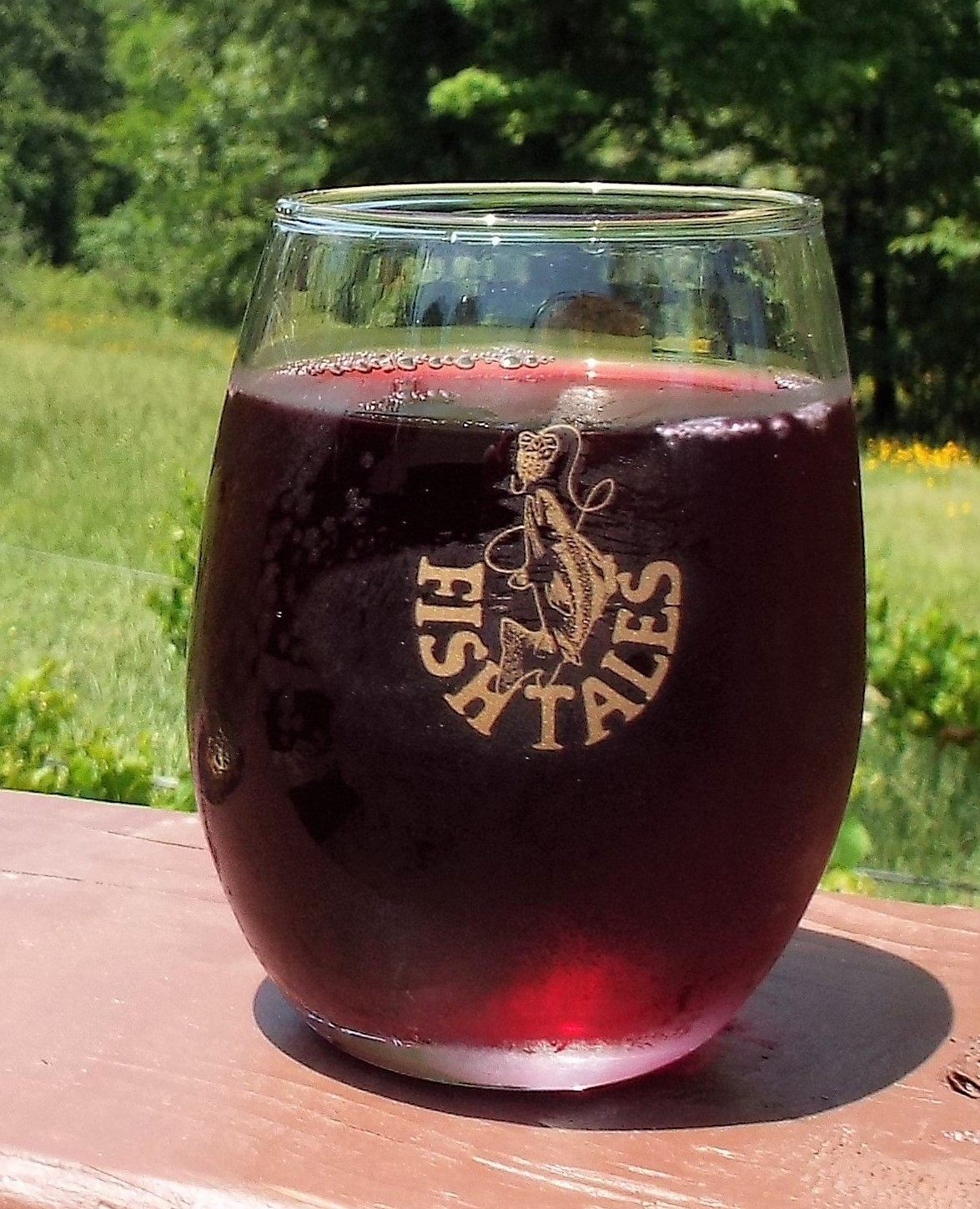 Glass of Mountain Fork Red
