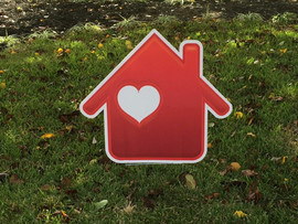Red House with White Heart