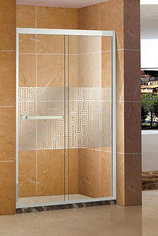 "Luxurious  Design 59 x 74""   Sliding Shower Door"