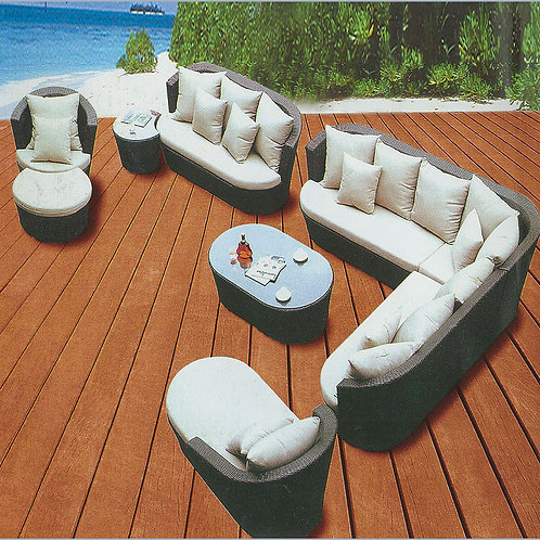 Great Quality! Brand New Dark Brown 9Pcs Multifunctional Sectional Patio Set