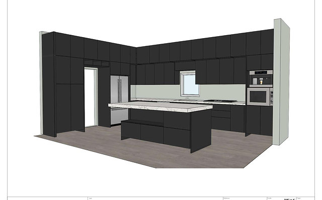 "High End Modern Brand New Black/Brown 3D ""Marble"" Kitchen"