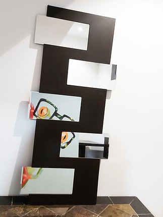 "Decorative Black-Brown Mirror 20x44""Very good  for dark spots or corners in your"