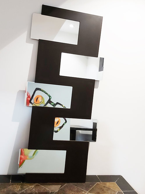 """Decorative Black-Brown Mirror 20x44""""Very good for dark spots or corners in your"""