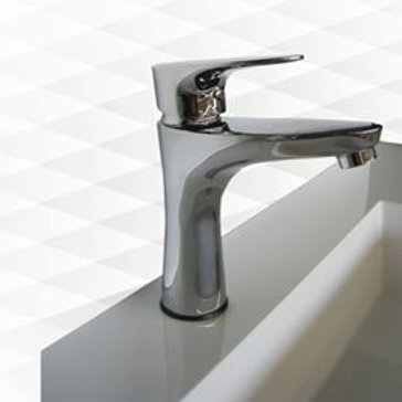 "Elegant Soft Shaped 7"" Single Handle One-Hole  Bathroom Sink Faucet"
