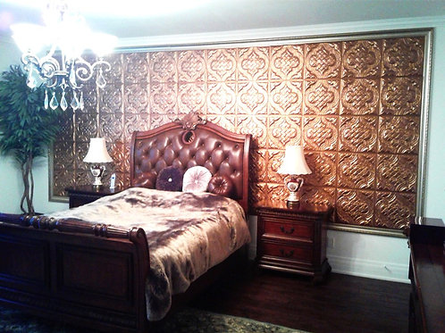 "3D Soundproof 16x16"" Golden  Lightweight Walls/Ceilings Leather Panels"