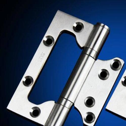 "Bi-Fold hinge. Easy installation without damaging doors D -1/2"" L- 4"""