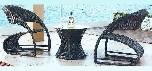 The Most Romantic  3Pcs Balcony/Porch/Patio Entertainment Set