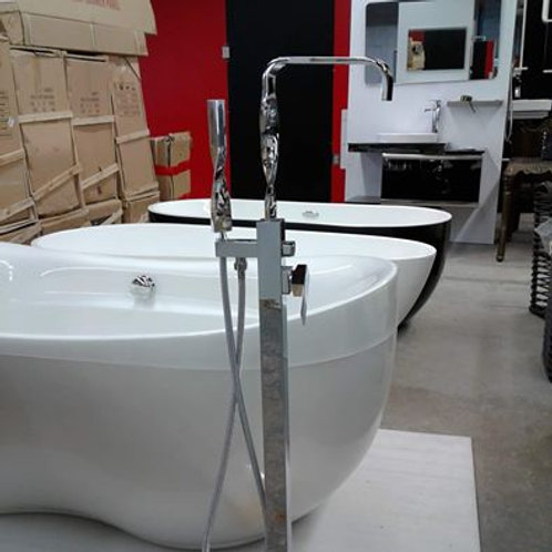 Stylish Unique Spiral  Freestanding Floor Mounted Tub Faucet
