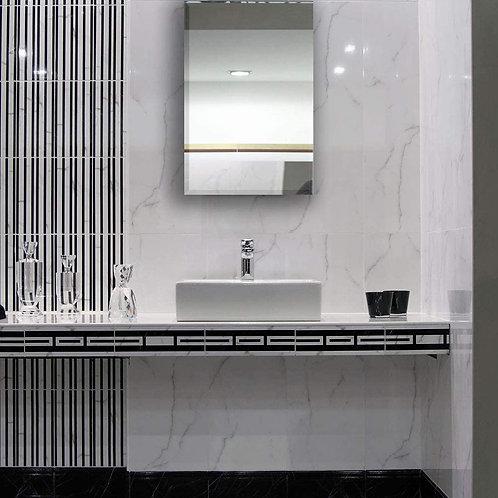"Contemporary beveled frameless bathroom mirror 20x31.5"""