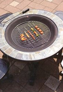 Give Your Family Fun Gift!    8 Pcs Fire Pit  Set 4 Chairs & Table  42x42x22""