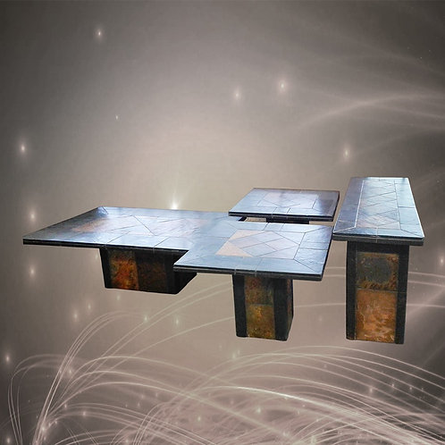 South African 4 Stone Tables Patio /Pool Set Ideal for Inside  and Outside Areas