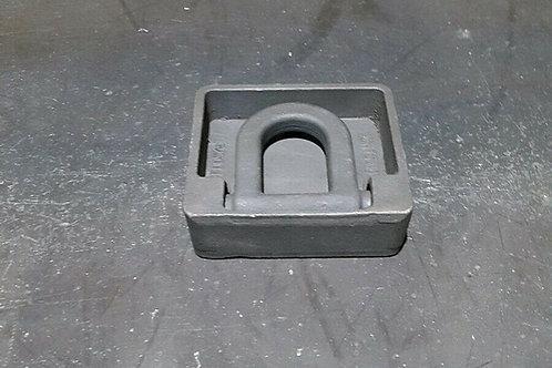 2 Stück Zurrmulde Zurröse 2,5 to roh Zurrhaken Abrollcontainer Container