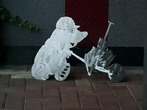 Deko aus Metall - Maulwurf - Edel - Rost - Garten Terrasse - Deko - blank - roh