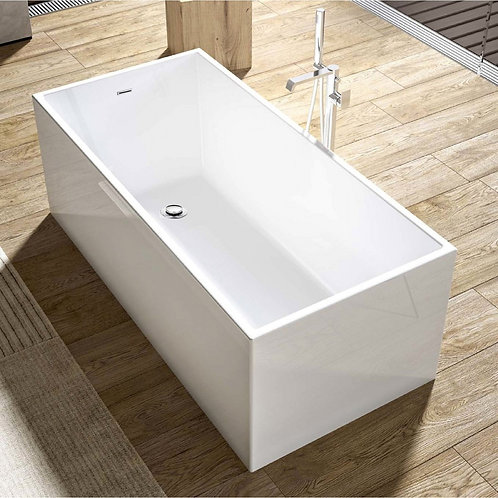 Slim Walls Luxurious Contemporary Design Acrylic Freestanding Soaking Bathtub  6
