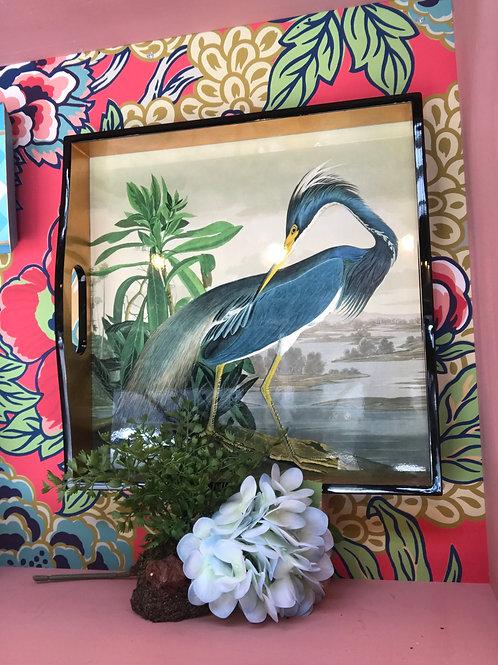 Audubon Heron Tray