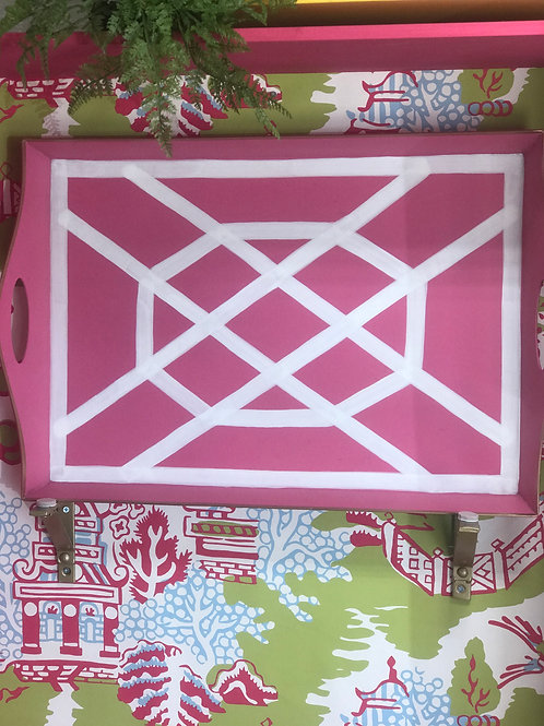 Pink & White Bentley Tray