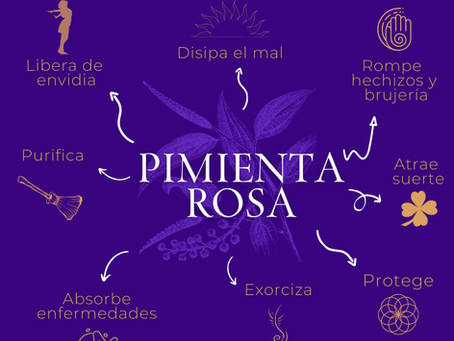 Usos mágicos de la Pimienta Rosa
