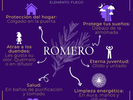 ROMERO. Usos mágicos