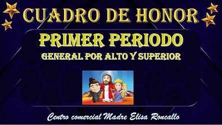 Cuadro de honor general estudiantes alto