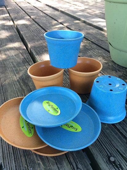 Biodegradable Pot and Saucer