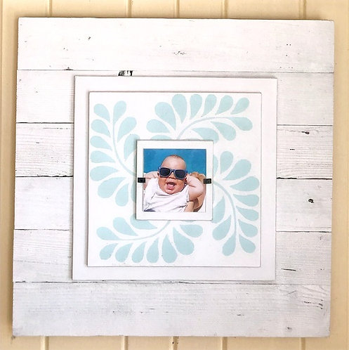 Stenciled Picture Frame