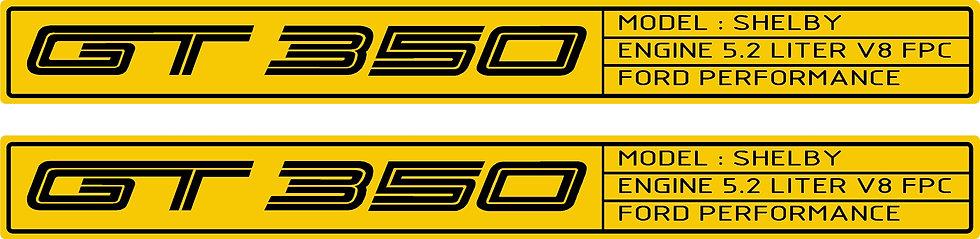 OG GT350 FLAT Door Sill Overlays 2015 - 2017