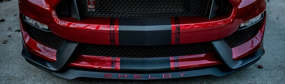 """GT350 Regular Splitter """"SHELBY"""" Overlays"""