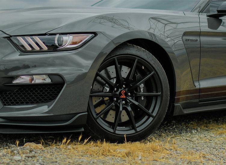 BLACK GT350 & GT500 Wheel Cap Snake Overlays