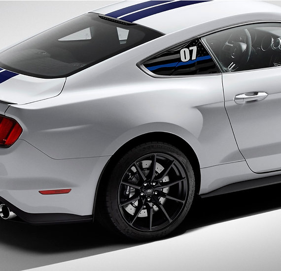 Printed GT350/R Quarter Window Race #