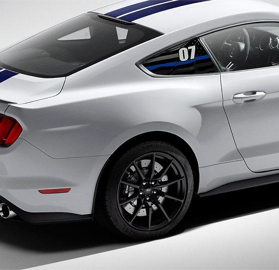 Printed GT350/R Quarter Window Race #
