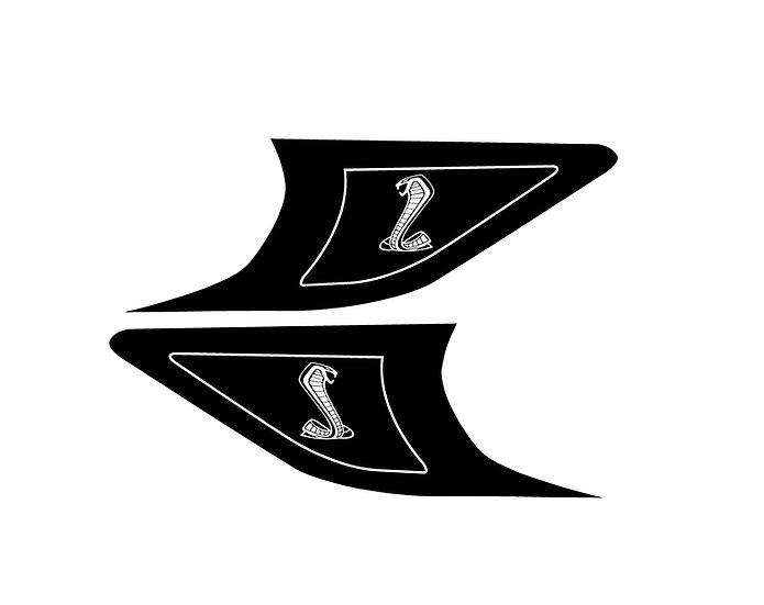 2015-2021 GT350 & GT500 Reflective Headlight Side Marker Overlays