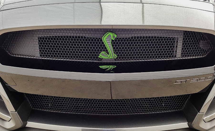 Die Cut GT500 Grille and Trunk Emblem Overlays